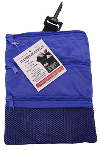 JP Lann Golf Multi-Pocket Tote Hand Bag and Valuables Pouch (Blue) ()