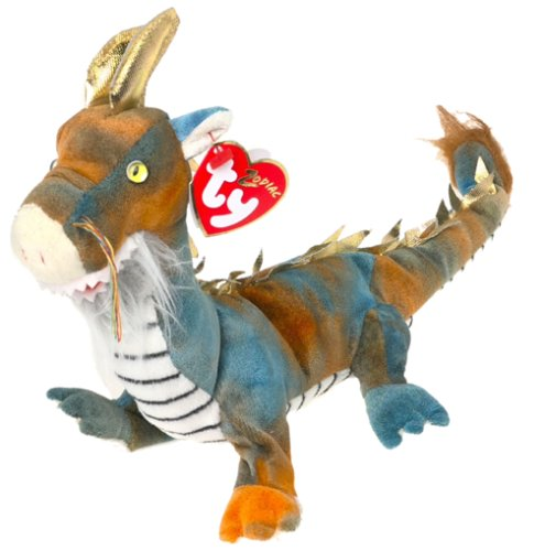 Dragon Striped Beanie - Ty Beanie Babies - Zodiac Dragon