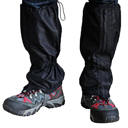 BINGUO Outdoor Essential Unisex Double Sealed Velcro Zippered Closure Water proof High Leg Gaiters Legging Cover