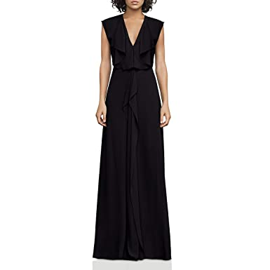 318db42561a Amazon.com  BCBG Max Azria Womens Evette Sleeveless Full-Length Evening  Dress Black 4  Clothing