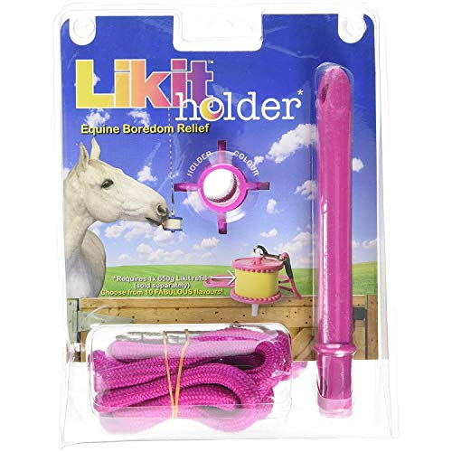 Likit Holder Stable Toy With Treat, Pink Glitter