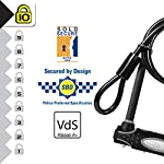 Master-Lock-8274EURDPRO-Catena-U-Ottima-per-Bicicletta-Elettrica-Bici-da-Corsa-Nero-Medium