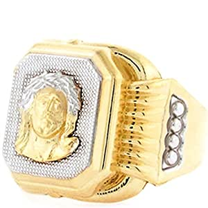 Jewelry Liquidation 10k Two Tone Gold Religious Jesus Face