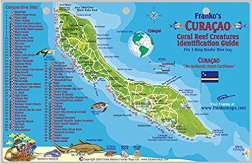 Curacao Dive Map Reef Creatures Guide Franko Maps Laminated Fish