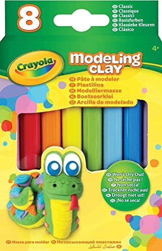 Crayola Modeling Clay (8 Pack), 0.6 oz, - Sticks Clay Modeling