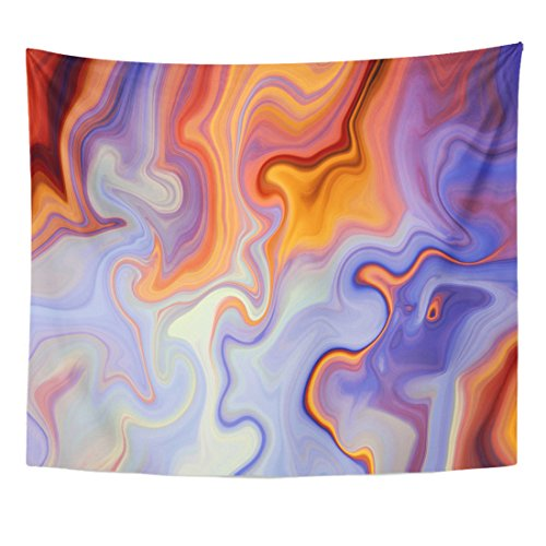 Marbling Effect Macro Lines Violet Home Decor Wall Hanging