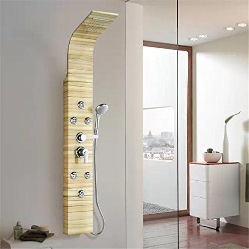 Zxy Hogar Baño ZXY Mampara de ducha Europeo retro acero inoxidable ...