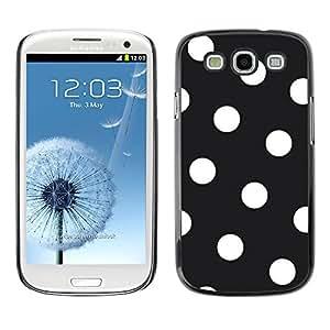Paccase / SLIM PC / Aliminium Casa Carcasa Funda Case Cover para - White Polka Dot Pattern Hipster Goth - Samsung Galaxy S3 I9300