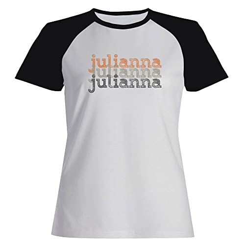 Idakoos Julianna repeat retro - Nomi Femminili - Maglietta Raglan Donna