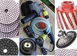 Granite Concrete Sander Wet Polisher 3/4'' Half / Roundover Bullnose 2'' Diamond Zero Tolerance Drum Polishing Pad Glaze Buff