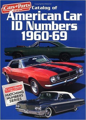 Catalog of American Car I  D  Numbers 1960-69: Car & Parts