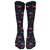 Unisex Mental Flamingo Pattern Fashion Stocking Socks Athletic Sock Long Sock