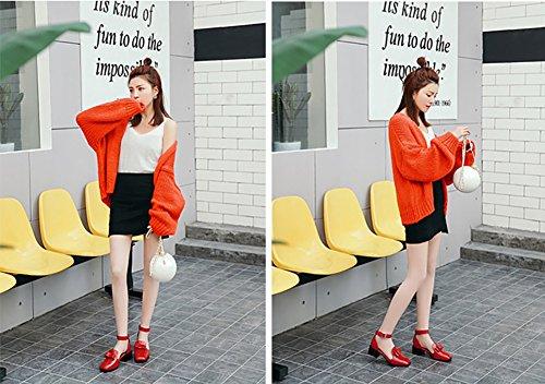 chaussures conception à fermé talon noeud taille les vert de femmes pour cm 40 rouge talons 4 Zjm sandales style hauts couleur boucle 5 8q5w48d
