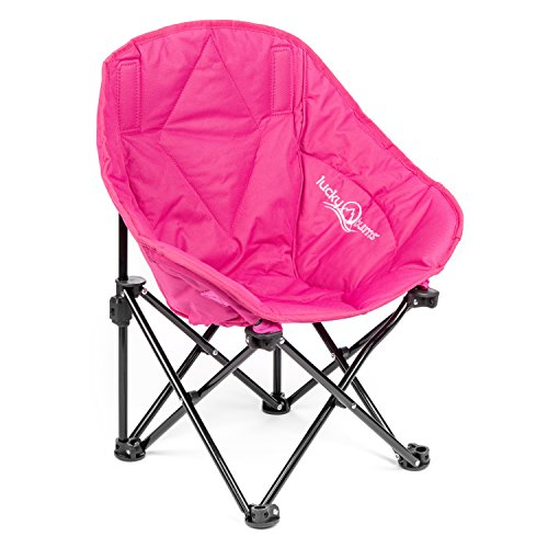 Ready Folding Chair Steel Frame (Lucky Bums Sofa Lounge Camp Chair, Pink, S)
