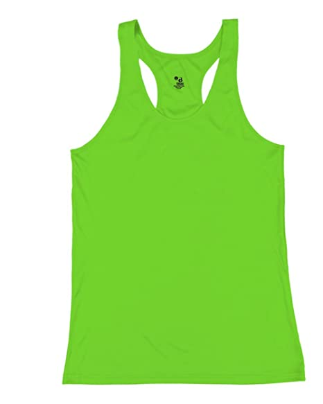 b91ebcd5855 Image Unavailable. Image not available for. Color  Badger Sport Lime Bright  Green Ladies Medium B-Core Moisture Wicking Racerback Tank Sports Top