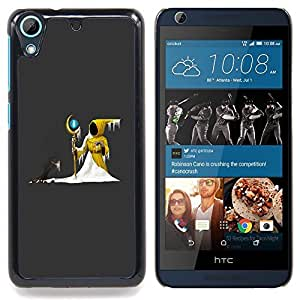 - Wizzard Hood Snow Fairytale Stick Magic Ball - Caja del tel????fono delgado Guardia Armor- For HTC Desire 626 & 626s Devil Case