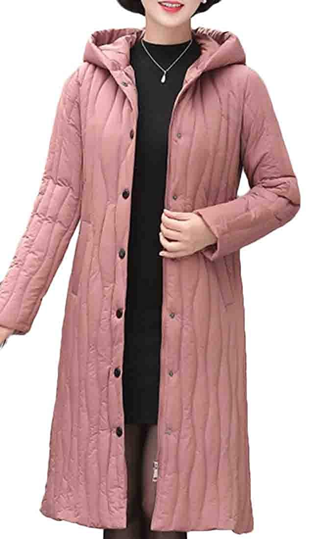 2 Keaac Women's Hooded Packable Winter Warm Ultra Light Weight Down Coat