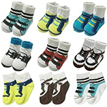 6 Pairs 0-12 month Baby Newborn Ankle Sock Infant Cotton Crew Bootie Socks