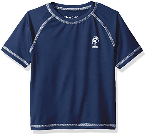 - iXtreme Boys' Toddler Palm Tree Rash Guard, Navy, 3T