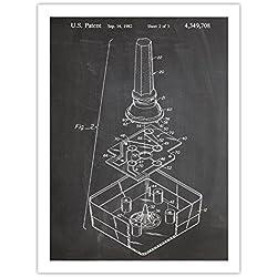 ATARI VIDEO GAME JOYSTICK POSTER BLACKBOARD INVENTION 18x24 PATENT ART PRINT 1982 VIDEOGAME CONTROLLER GIFT