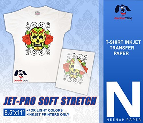"JET-PROSS JETPRO SOFSTRETCH HEAT TRANSFER PAPER 8.5 X 11"" CUSTOM PACK 10 SHEETS"