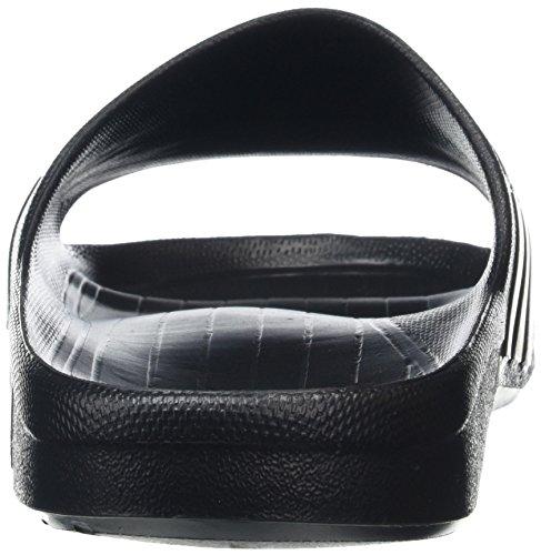 adidas Duramo Slide, Sandales à Bout Ouvert Unisexes Noir (Black/White/Black)