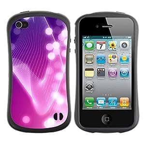 Suave TPU GEL Carcasa Funda Silicona Blando Estuche Caso de protección (para) Apple Iphone 4 / 4S / CECELL Phone case / / Lines Bright White Lights Girly /