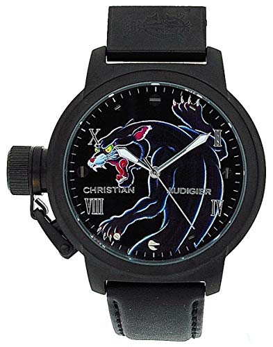 - Christian Audigier Unisex ETE-105 Eternity Black Panther Ion-Plating Black Watch