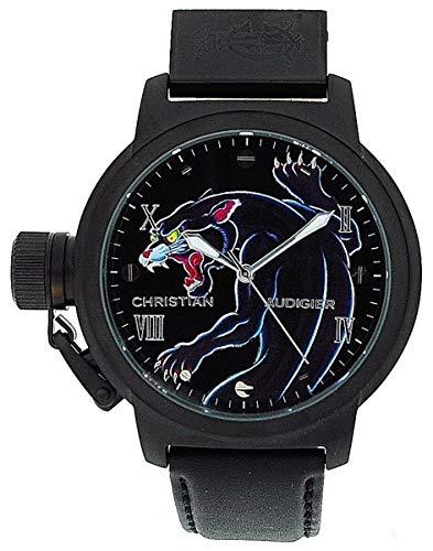 Christian Audigier Unisex ETE-105 Eternity Black Panther Ion-Plating Black Watch