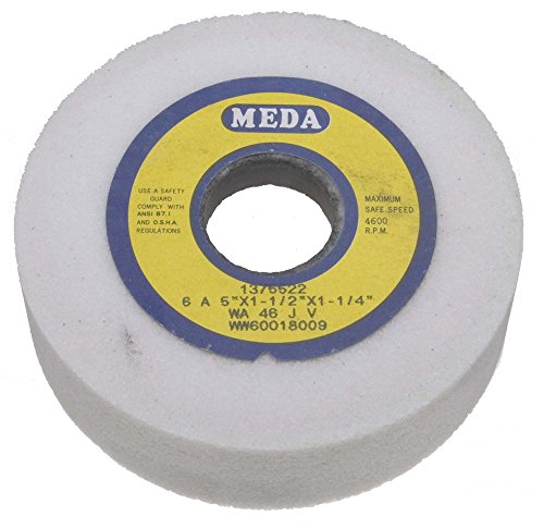 Meda 5 x 1-1/2 x 1-1/4 60K Straight Cup White Aluminum Oxide Grinding Wheel
