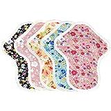 布ナプキン Mサイズ 薄手 防水布入り 5枚セット AEMWT-5P ふつうの日多い日昼用 生理ナプキン|エニュアンス オーガニックコットン使用