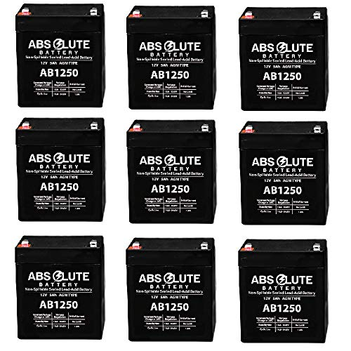 - 9 Pack New AB1250 12V 5AH SLA Replacement Battery for Tandy/Radio Shack 23-289A
