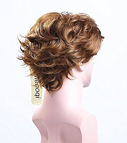 5I Men Short Curly Wigs Heat Resistant Hair Wigs Natural Looking Wigs With Wig Cap Z016Z