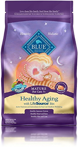 3 LB, Protein Chicken Healthy Aging Mature Cat Food by Blue Buffalo - Blue Healthy Aging Cat Food
