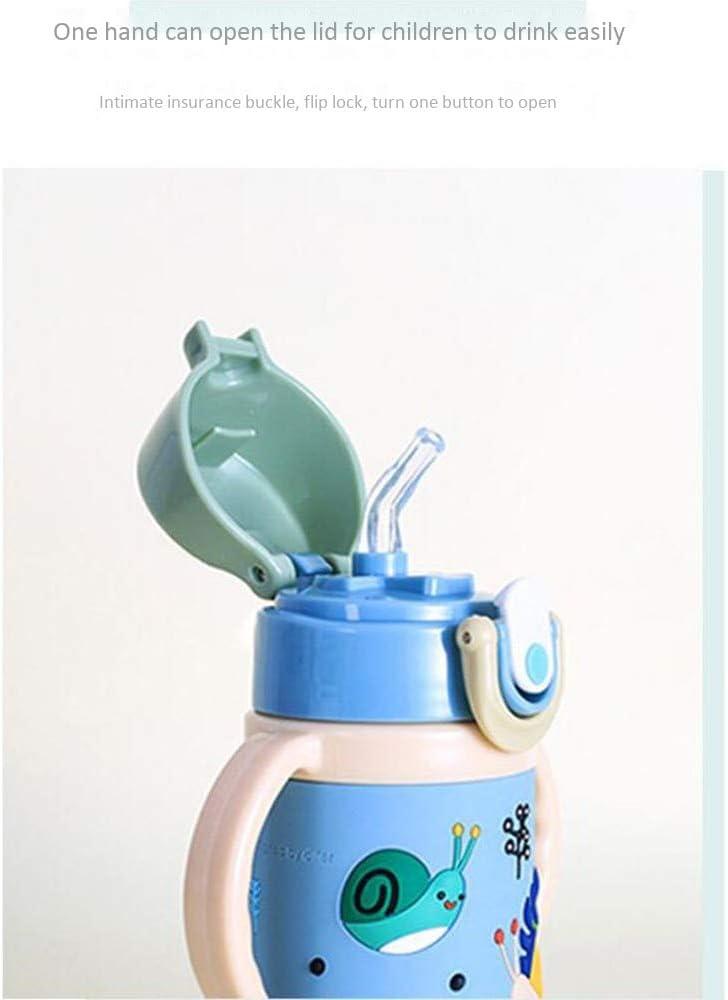XULONG Pajita para bebé, Botella de Agua portátil para Deportes al Aire Libre, Botella de Agua para niños Linda a Prueba de caídas, sin BPA, 400 ml,Green: Amazon.es: Deportes y aire libre
