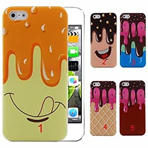 DD Ice Cream Pattern PC Hard Case for iPhone 5/5S (Assorted Colors) , 1#