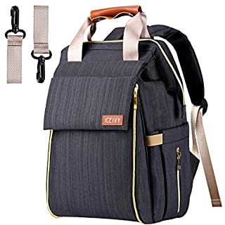 Diaper Bag, Baby Backpack with Multi-Function Large Capacity and Durable