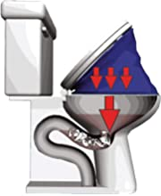 Eiyaax Toilet Plunger,Toilet Dredge Designed for Siphon-Type,Design Wall Hook,Stainless steel Handle