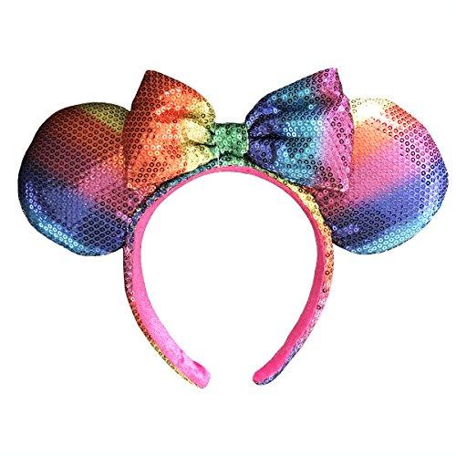 Disney Parks Rainbow Ears with Bow Headband -