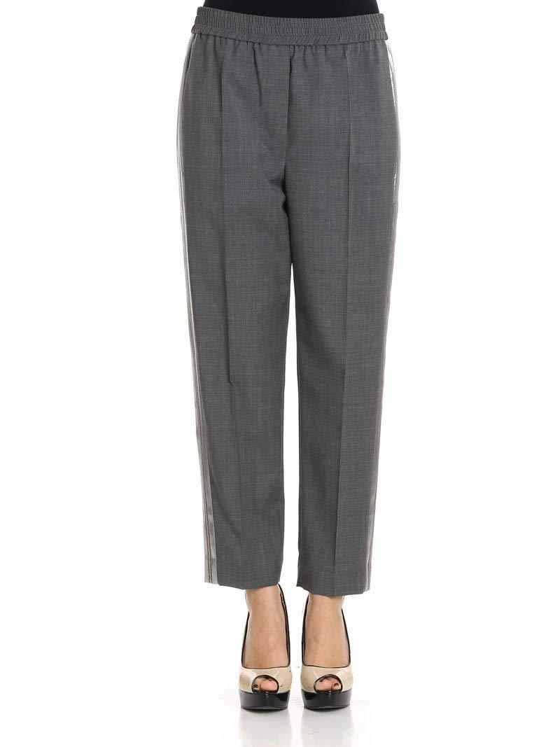 Brunello Cucinelli Women's M0H61P6517CX20 Grey Wool Pants