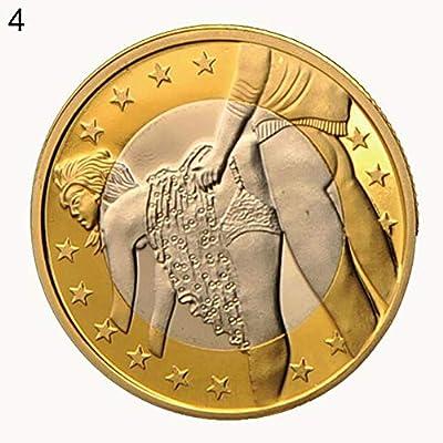 Connoworld - Monedas Redondas chapadas en Oro Sex Euros coleccionables para Pareja – 1#: Amazon.es: Hogar