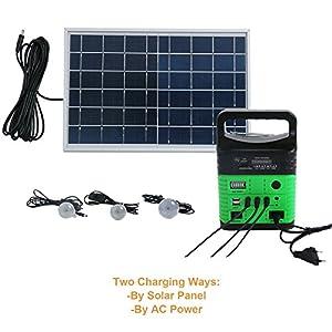 51PDK%2B5nEkL. SS300  - Upeor 10-Watt Portable Generator Power Inverter, Solar Generator System for Camping Home, 9000mAh Removable Battery, Emergency Power Supply with 6 Watt Solar Panels