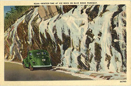 - Winter Time At Ice Rock On Blue Ridge Parkway Scenic North Carolina Original Vintage Postcard