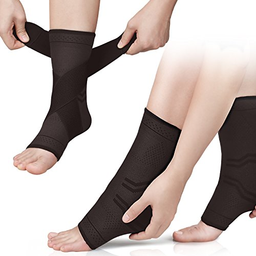 Plantar Fasciitis Socks Compression Foot Sleeves Ankle Heel Arch Support Socks, Compression Bandage Wraps Set with Straps Ideal for Pain Relief, Improved Blood Circulation, Anti-Fatigue(1 pair)