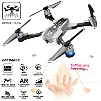 ATTOP XT-Pack 8 Optical Follow FPV RC Drone with Camera Live Video Foldable Quadcopter - One Key Take Off, Altitude Hold,Follow Me