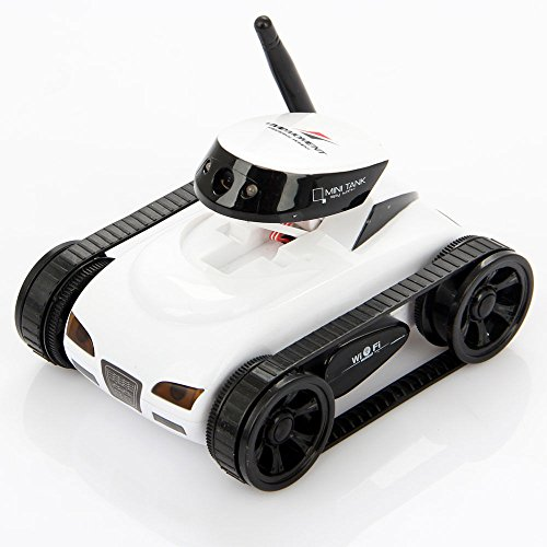 I Spy Mini Wilreless Spy Tank Rc Car With 0 3Mp Hd Camera  White Wifi Controlled By Iphone Android