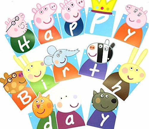 Peppa Pig Banner Peppa Pig Birthday Banner By: YIBAOLAI Birthday Banner Peppa Pig Birthday Decoration