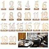 Artliving 20pcs 1-20 Wooden Wedding Table Number Holders for Wedding, Party, Events or Catering Decoration