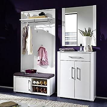 Garderoben Set Go258 Weiss 4 Tlg Amazon De Kuche Haushalt