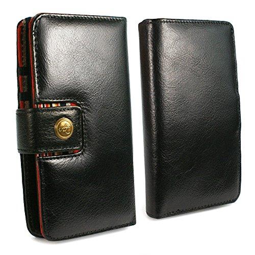 Alston Craig Magnetisch Schale RFID Vintage Ledertasche Brieftasche für Apple iPhone 8 - Schwarz
